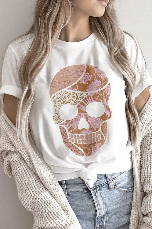 Multi Print Skull Tee