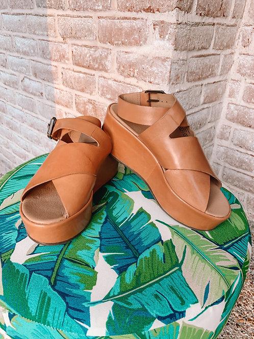 "Tan ""Runaway"" Platform Sandals"