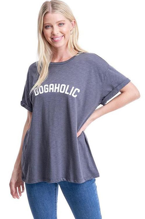 Dogaholic Tee Charcoal