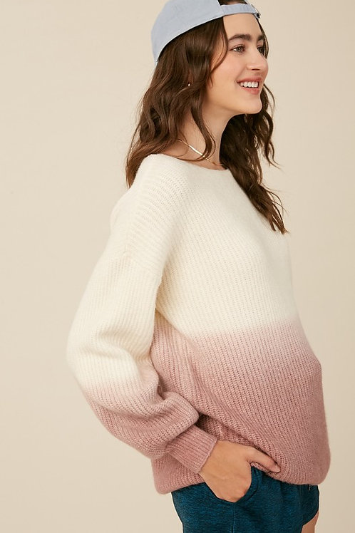 Ombre Blush Sweater