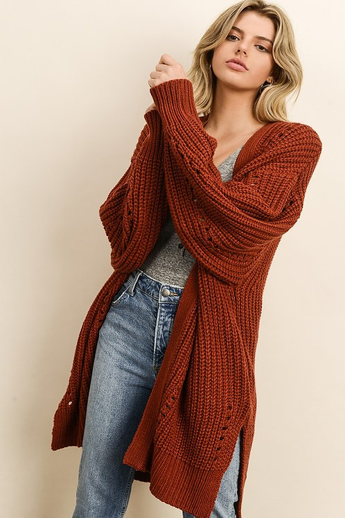 Rust Knit Cardigan