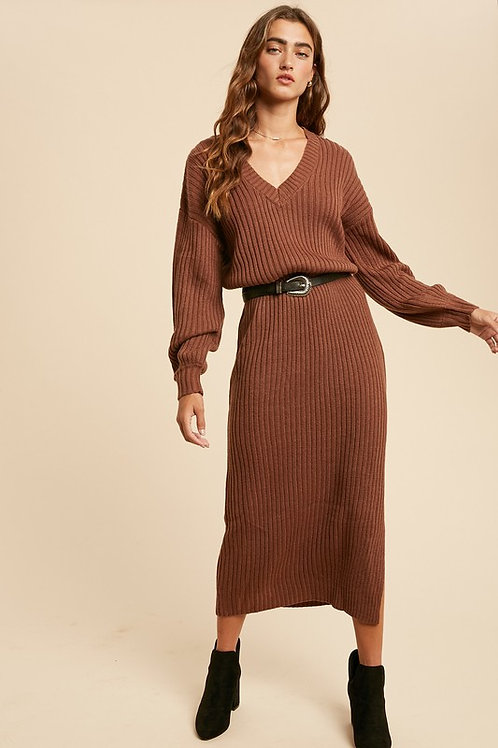 Camel Sweater Dress