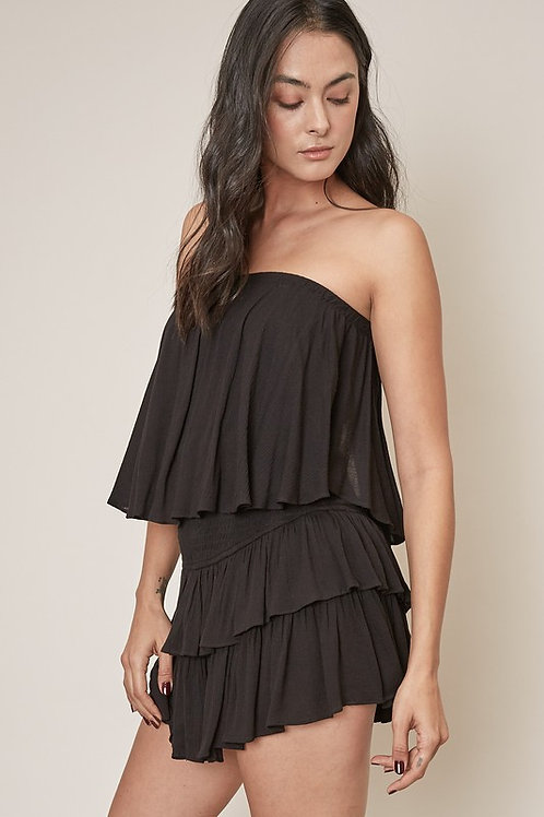 Black Tube Top Romper