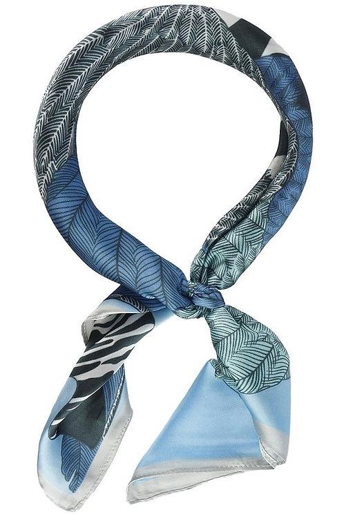 Blue Zebra Scarf