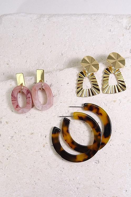 Pink & Gold Hoop Earring Pack