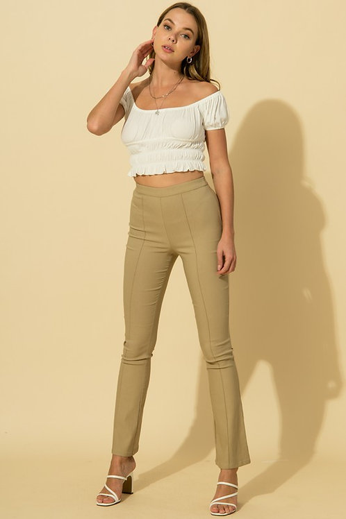 Khaki Flare Pants