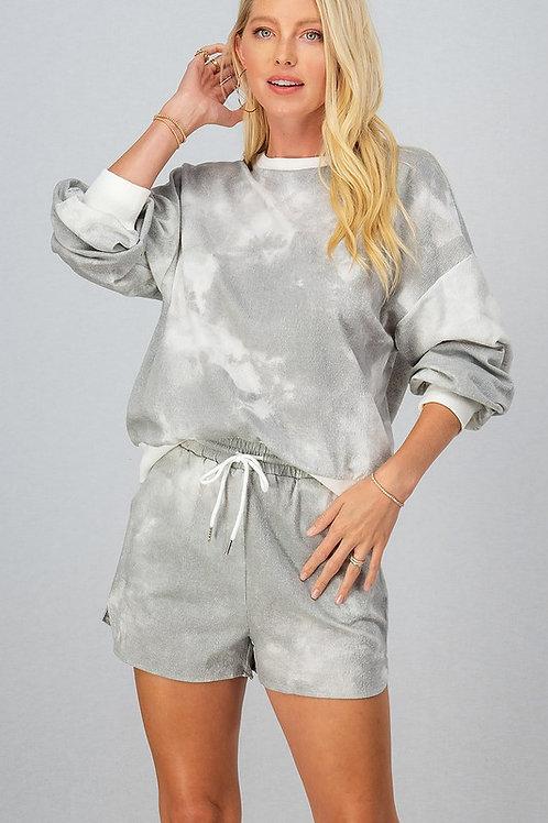 Gray Tie Dye Sweater