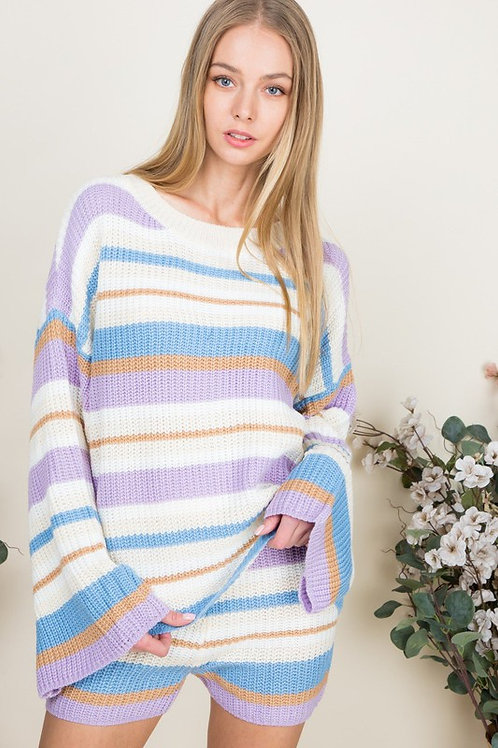 Lavender Striped Sweater