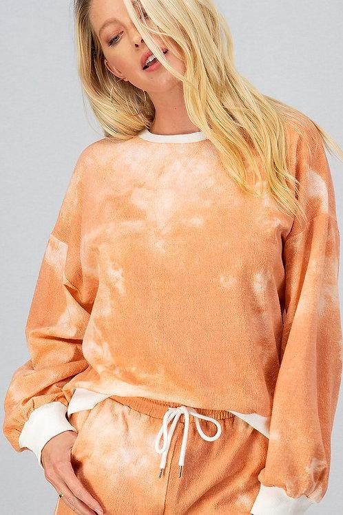 Orange Tie Dye Sweater