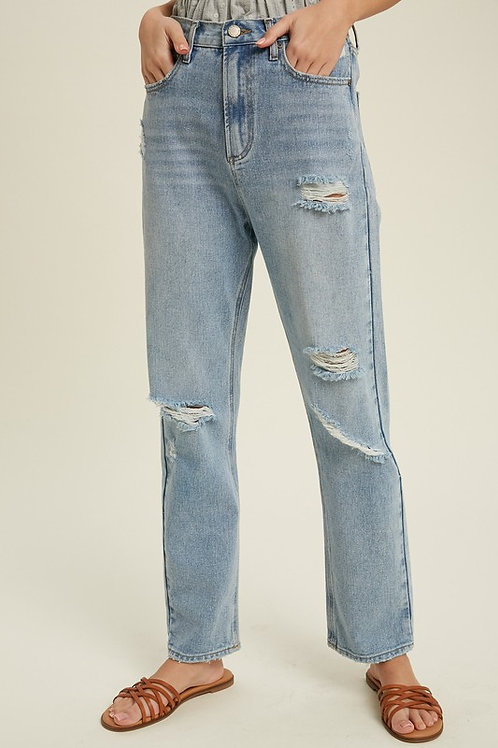 Light Wash Loose Fit Jeans