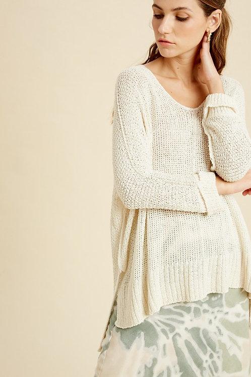 Cream Yarn Sweater