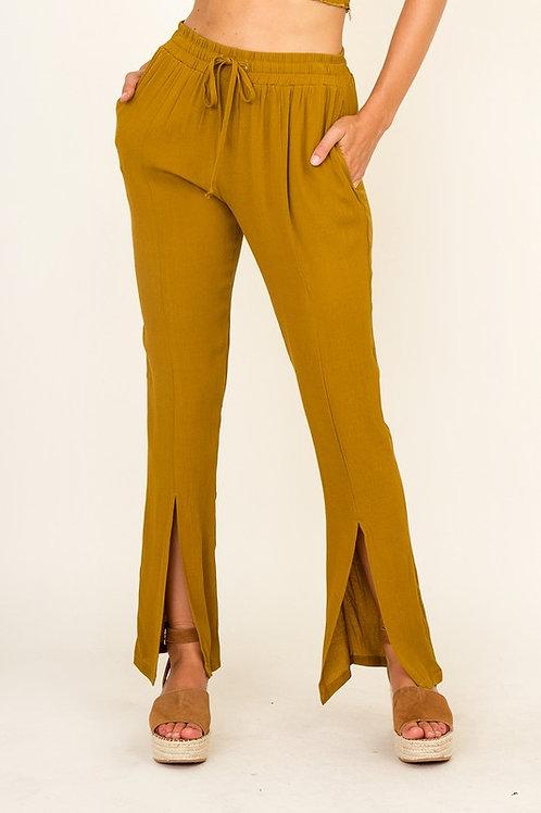 Mustard Slit Pants
