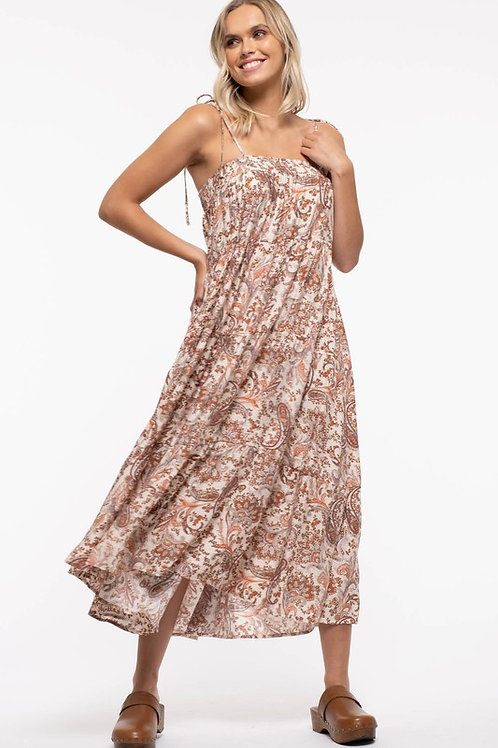 Rust Paisley Maxi Dress