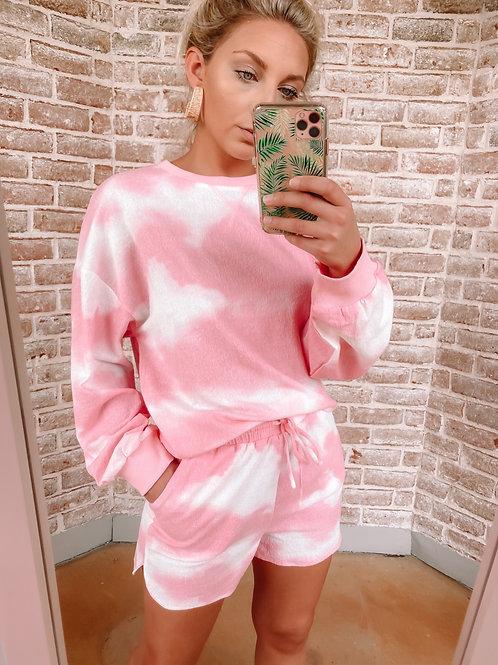 Hot Pink Tie Dye Shorts