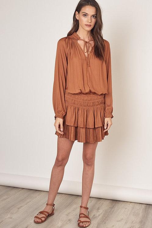 Caramel Ruffle Dress