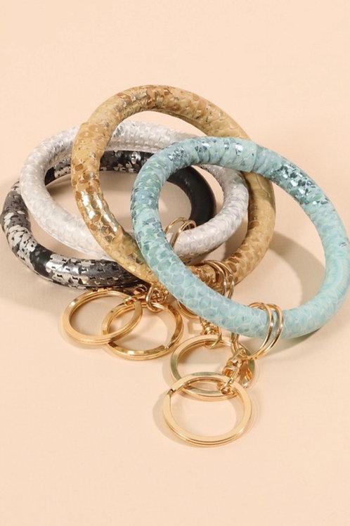 Metallic Snake Key Ring