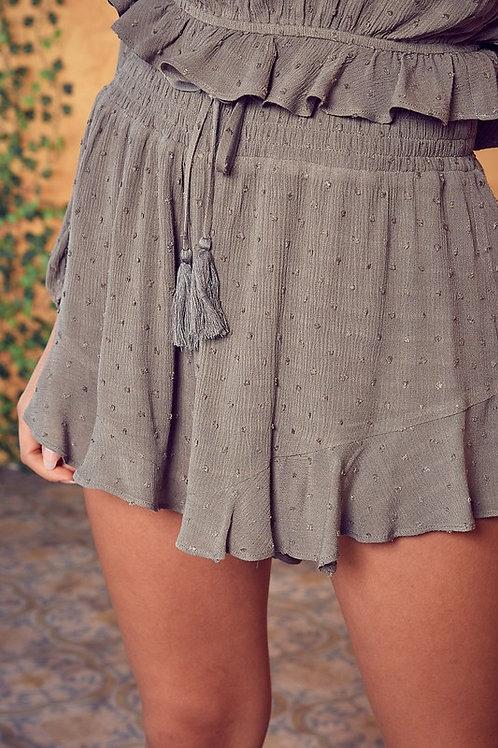 Olive Smock Shorts