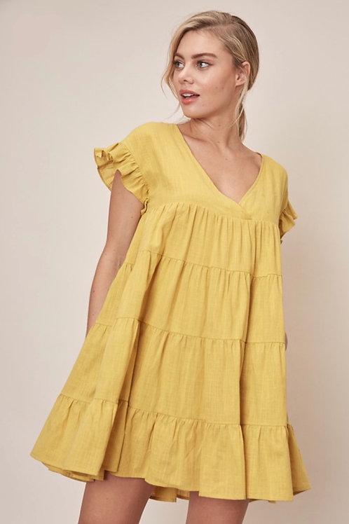 Mustard Babydoll Dress