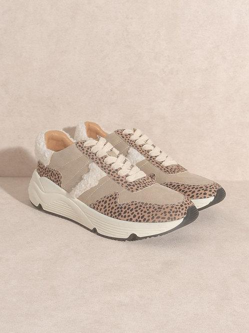 Cheetah Sherpa Sneakers