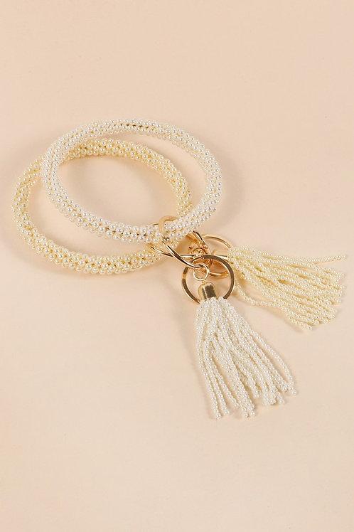 Pearl Key Ring
