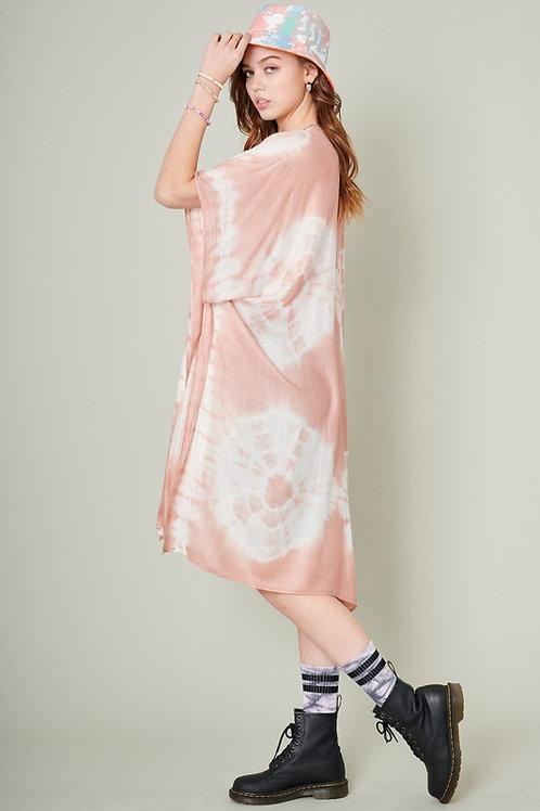 Pink Tie Dye Kimono