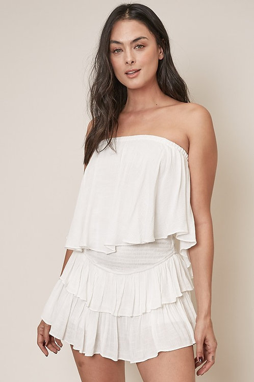 White Tube Top Romper