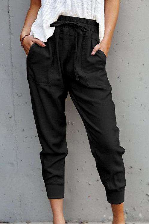 Black Casual Pocket Joggers
