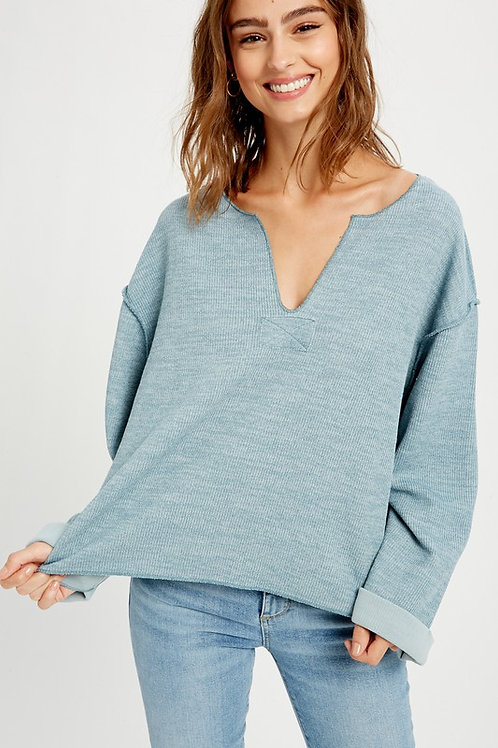 Mountain Blue V-neck Sweater
