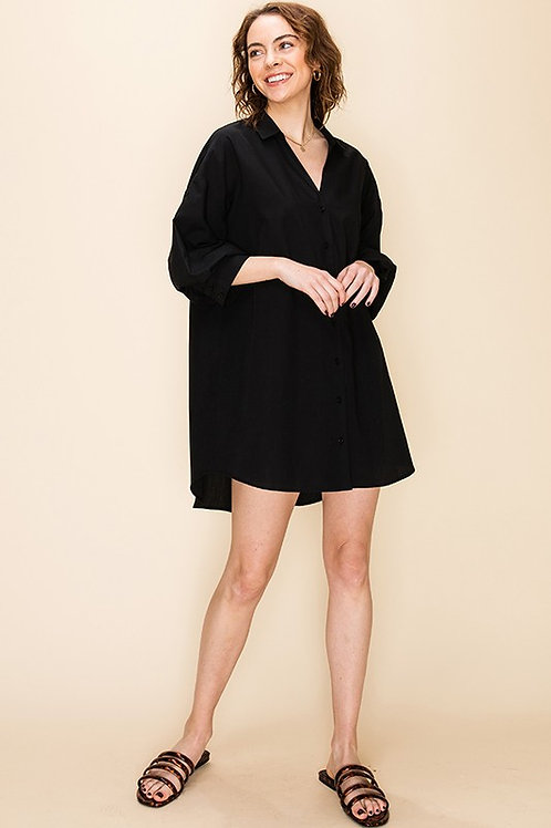 Black Puff Sleeve Dress