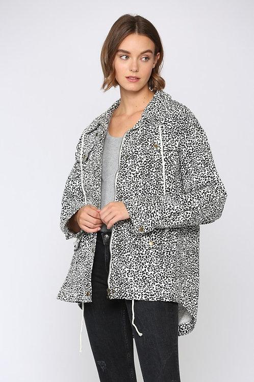 Leopard Anorak Jacket