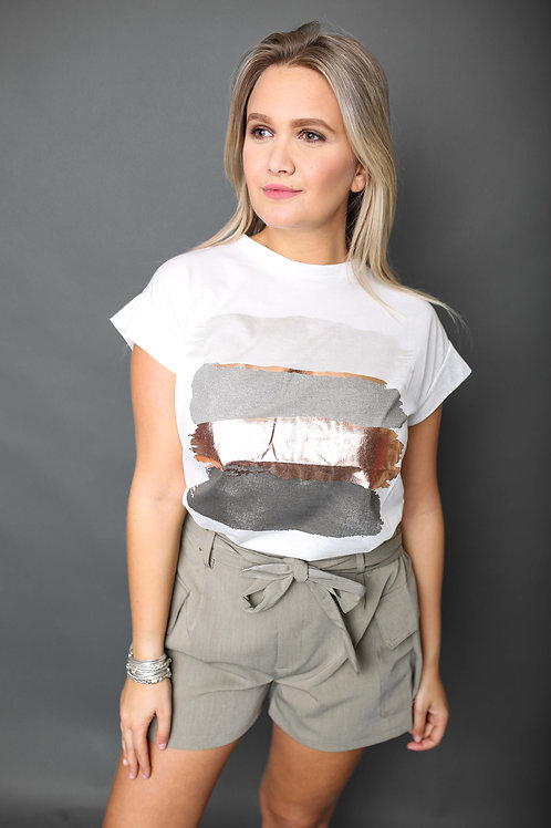 Tshirt peinture - Gris