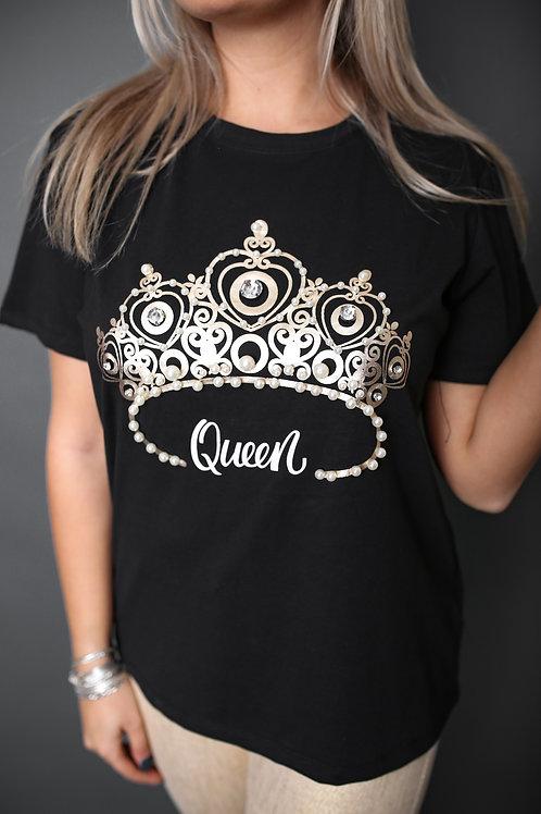 """Tshirt """"Queen"""" - Noir"""