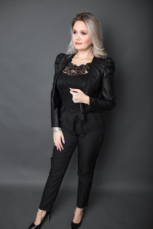 Artigli - Pantalon ample avec noeud - Noir