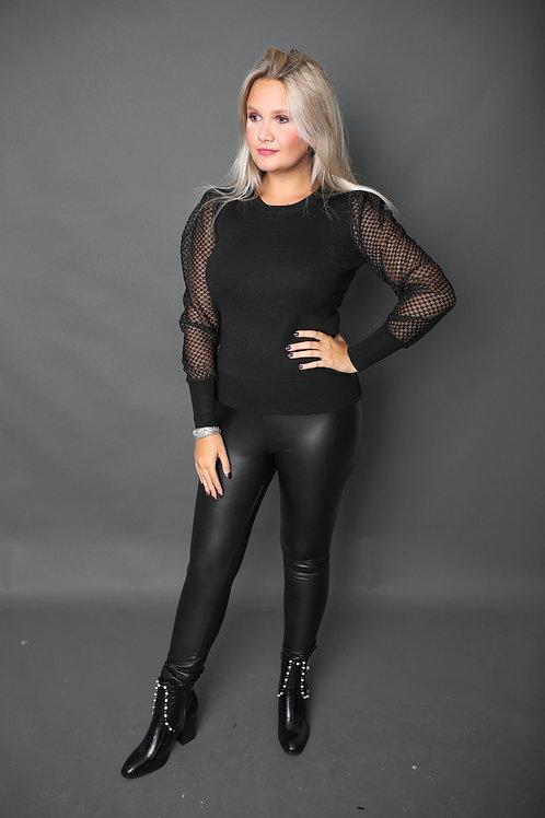 Pantalon en similicuir - Noir