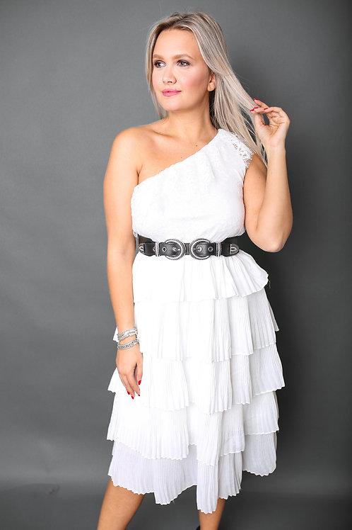 Robe asymétrique - Blanc