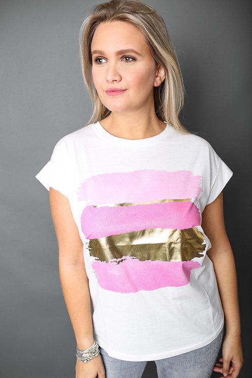 Tshirt peinture - Fuschia