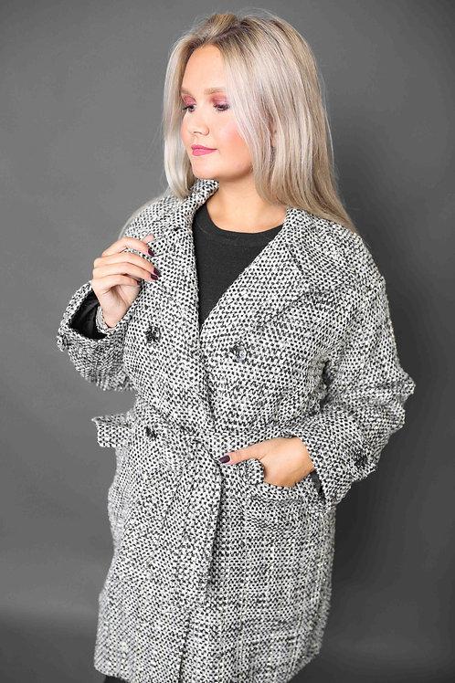 """Long manteau """"Chic"""" brillant - Beige"""