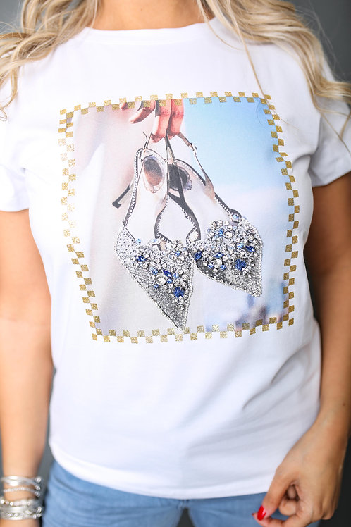 """Tshirt """"chaussures"""" - Blanc"""
