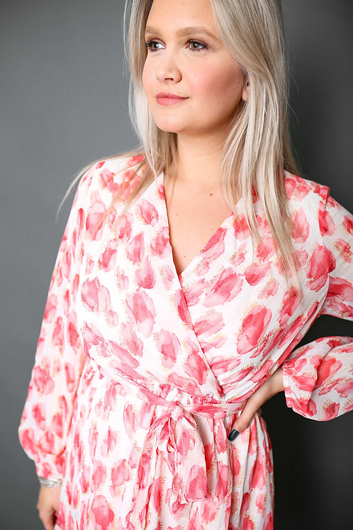 Robe à motifs corails - Blanc