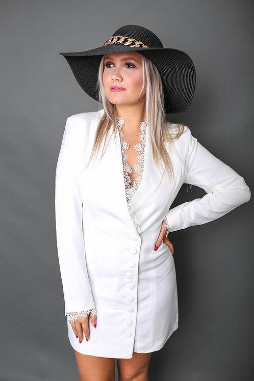 Robe blazer chic - Blanc
