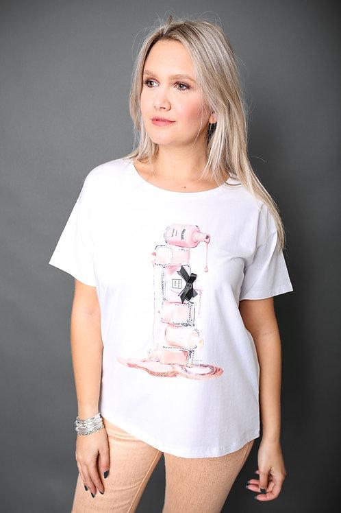"""Tshirt """"Vernis"""" - Blanc"""