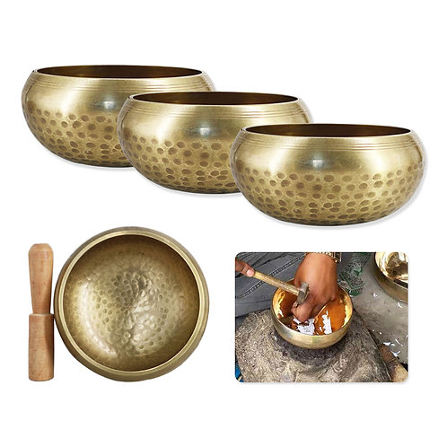 Handmade CopperTibetan Singing Bowls for Meditation Yoga