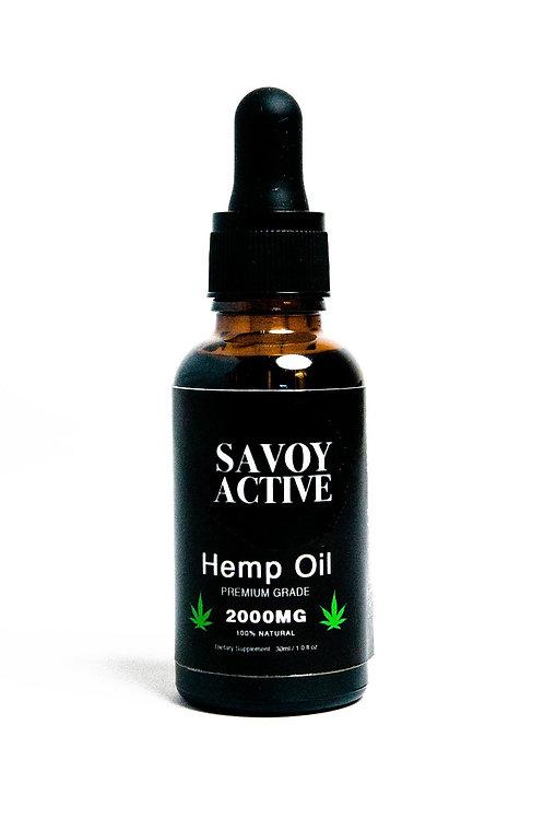 Hemp Oil - Premium Grade - 100% Natural - 2000MG - 1 Fl. Oz. / 30 Ml.