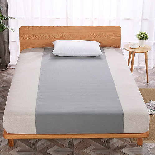 Earthing Half Bed Sheet (60 X 270cm) With Grounding Cord - At One With Nature