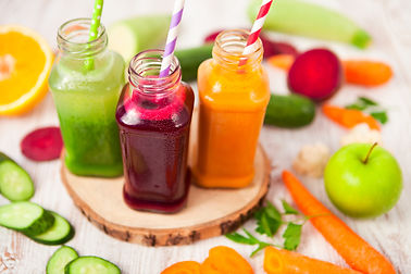 Various Freshly Squeezed Vegetable Juice