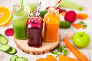 Various Freshly Squeezed Vegetable Juice