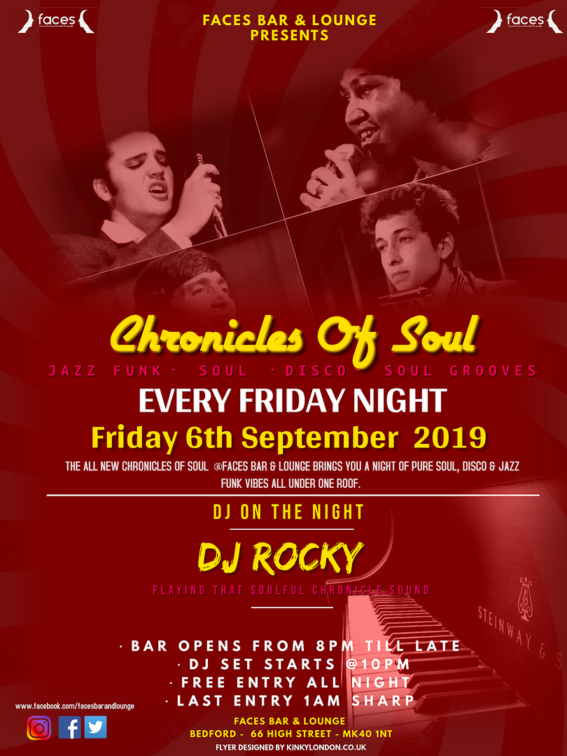 Chronicles of Soul - friday 6th septembe
