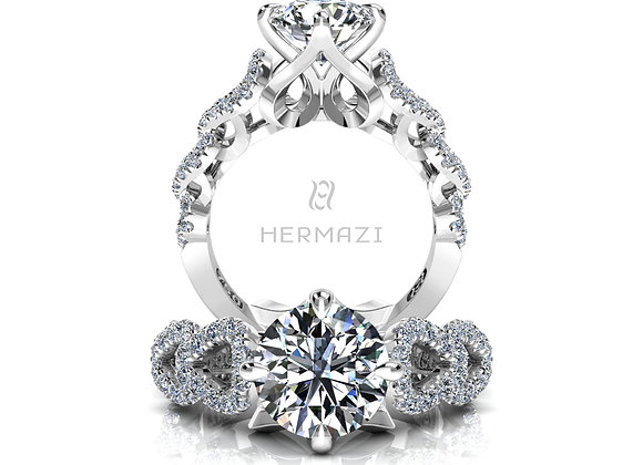 Hermazi® 'Révérence' Diamond Engagement Ring