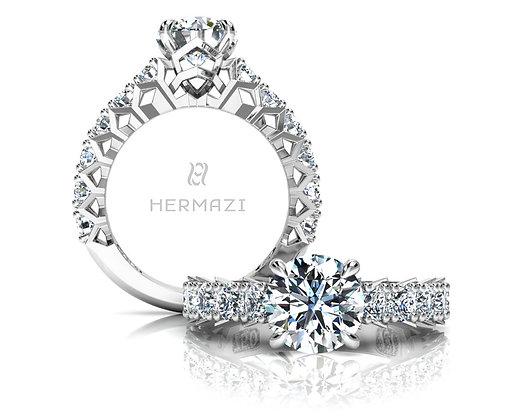 Hermazi® 'Divine' Three-Quarter Way Ring