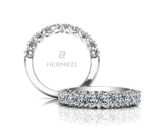 Hermazi® 'Infinite' Halfway Diamond Band